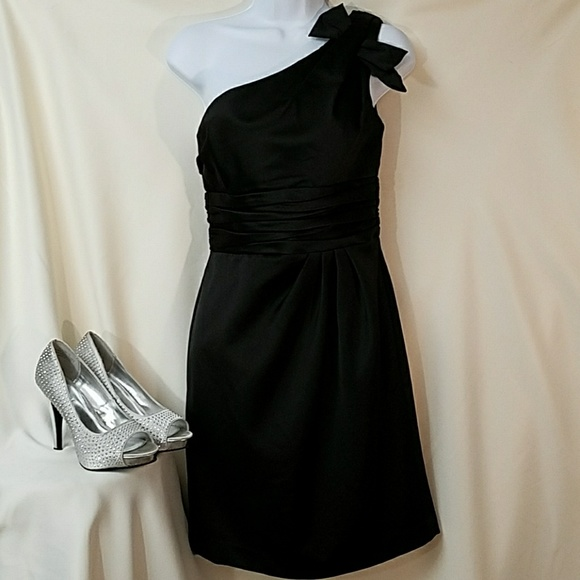 685e98046a27f David's Bridal Dresses & Skirts - DAVID'S BRIDAL Black satin one shoulder  dress